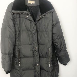 Michael Kors extra large puffy jacket knit cuffs